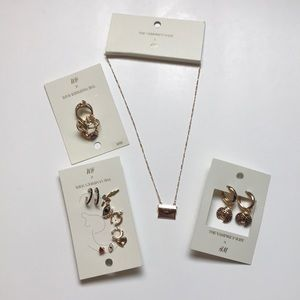 H&M x Vampire wives earring necklace ring set NWT